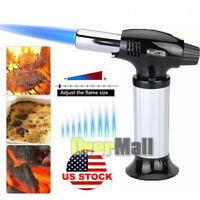 Torch Butane Lighter Kitchen Cooking Chef Culinary Fuel Gauge Dab Blow Herb New