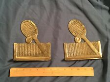 Tennis Style Brass Book Ends