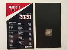 """2020 Nfl New England Patriots Magnet Football Schedule 4"""" X 7"""" New"""