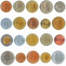 20 Coins From Different Countries: Africa Asia, Middle East, Caribbean, Americas
