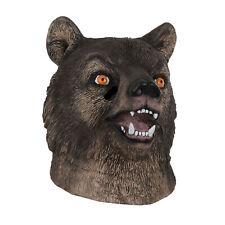 Herren Grizzlybär Latex Maske Wild Wald Tier Braune Bärenmuster Maske Kostüm Cos