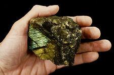 """Labradorite Rough 3.5"""" x 3.5"""" 1 Lb 2 Oz Rocks Minerals Specimen Healing Crystals"""