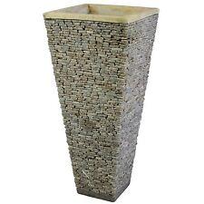 Wuona Balinesische Stein-Vase 80 cm Blumenvase Pflanzkübel Blumentopf Kübel Deko