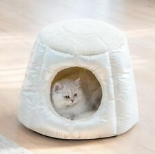 New Pet Dog Cat Sofa Bed House Tent Cushion Mat Remoable Indoor House White