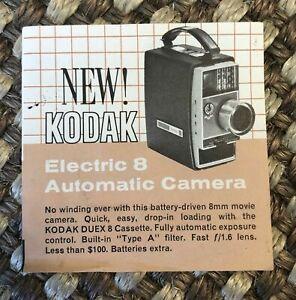 "Vintage Kodak Electric 8 Advertisement 5.5"" x 2 3/4"" ephemera only (no camera)"