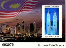Malaysia Petronas twin towers 1999 m/s MNH