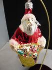 Rare Christopher Radko Christmas Ornament  SANTA   5.5