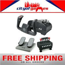 CH Products Captain's Pack For PC & Mac Inc USB Yoke, Quad Throttle & Pedals New