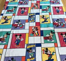 "Vintage Disney Cool Mickey Mouse Blanket Felt Bedspread 89""x65"" Northern Chatham"