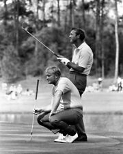 1972 Masters at Augusta JACK NICKLAUS & ARNOLD PALMER Glossy 8x10 Golf Photo