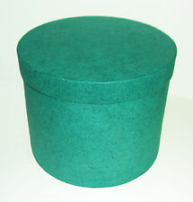 Geschenk - Schachtel / Box Rund grün Ø17,5 x 14,5 cm - Verpackung