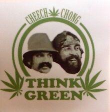 WEED 420  MARIJUANA  CHEECH CHONG THINK GREEN  DECAL STICKER  RAT ROD HOT ROD