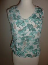 NWT CASUAL CORNER ANNEX FLORAL COLORFUL TANK TOP SHIRT BLOUSE LINED SZ P