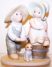 Homco Vintage Circle of Friends Taste And See Boy & Girl w/Dog Turning Ice Cream
