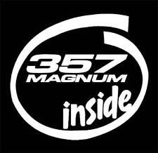 357 MAGNUM Inside decal sticker,.40 caliber,Pistol,Hand Colt,Gun,9mm,.44 caliber