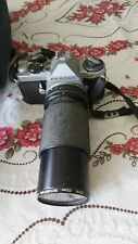 Pentax ME Super camera plus Vivitar 70-210 macro lens plus case and bits.