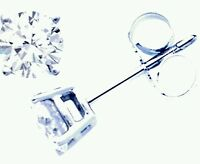 Orecchini Punto Luce in oro 18 Kt e diamanti naturali 0,07 ct prezzo imbattibile