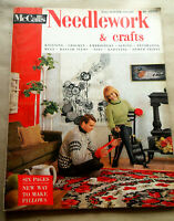 Vtg 1964-65 NEEDLEWORK & Crafts McCall's MAGAZINE 6 Pges New Way To Make Pillows