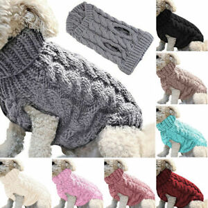 Pet Dog Cat Jumper Knitted Sweater Coat Clothes Puppy Winter Warm Fashion Cute