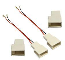 2 câble connecteurs adaptateurs haut-parleur pour Citroen C1 Toyota Aygo Peugeot