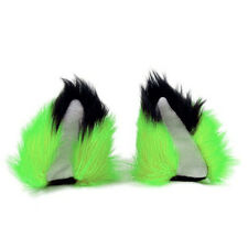 PAWSTAR NECOMIMI Fox Ear SLEEVES ONLY - Wolf Dog Cat Covers Lime Green [LI]3092