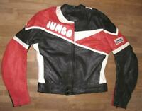 """ JUMBO "" Herren- Motorrad- Lederjacke / Kombi- Jacke in schwarz- rot ca. Gr. 52"