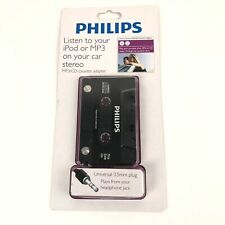 Philips 150 Series Universal 3.5mm Plug Mp3/Cd Cassette Adapter New Sealed