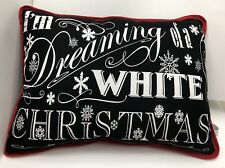 Small Decorative Accent Black Red Pillow I Am Dreaming Of A White Christmas
