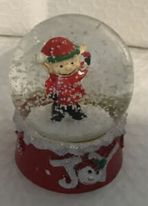 "Christmas Mini Snow Globe 3"" Elf"