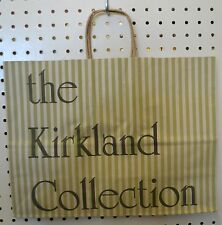 LOT 30 Vintage GREEN Paper Shopping Bag KIRKLAND Collect 16 x 12 Wrapped Handle