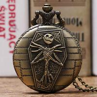 The Nightmare Before Christmas Necklace Steampunk Jack Tim Burton Pocket Watch