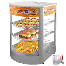 "Commercial Food Warmer Court Heat Food Pizza Display Warmer Cabinet 14""Glass Sus"