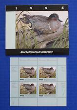 Canada (AWC01M) - 1995 Atlantic Waterfowl Celebration minisheet of 4 (MNH)