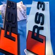 KIT LOGOS AUDI RS3 NOIR BRILLANT A3 S3 8P 8V ORIGINAL CONSTRUCTEUR AV ET AR