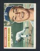 1956 Topps #173 Johnny Podres EX/EX+ Dodgers 94473