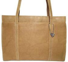 LEDER Tasche/ Shopper LEGAT safari DIN A4 tauglich Arbeitstasche braun natur