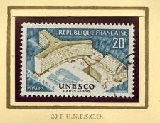 TIMBRE FRANCE OBLITERE N° 1177 INAUGURATION DU PALAIS DE L'U.N.E.S.C.O. A PARIS