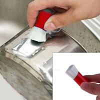 2pcs Magic Stainless Steel Rust Remover Cleaning Detergent Sticks Wash Brush