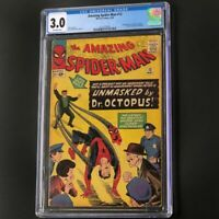 Amazing Spider-Man #12 (1964) 💥 CGC 3.0 OW 💥 3rd App of Doctor Octopus! Marvel