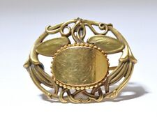 Pin Pendant Monogram Victorian Gold Filled Brooch