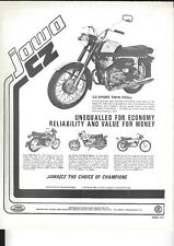an Original 1975 Magazine Advertisement for the Jawa CZ Sport Twin 250cc