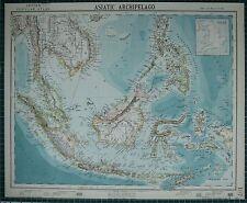 1883 LETTS MAP ~ ASIATIC ARCHIPELAGO BORNEO PHILLIPPINE ISLANDS CELEBES JAVA