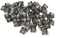 LEGO - 50 x Mini - Dachstein 30 Grad 1x1x2/3 transparent rauch / 54200 NEUWARE