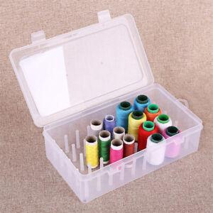 Sewing Thread Storage Box 42 Pieces Spools Bobbin Carrying Case Holder CraBEPTU