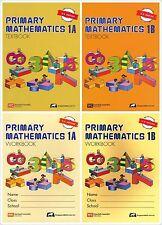 Singapore Primary Math Grade 1 Kit (US ED)-Workbook/Textbook 1A+1B-FREE SHIPPING