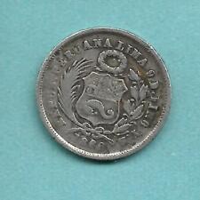 PERU SILVER DINERO 1866
