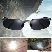 Outdoor Polarized Sportbrille UV400 Sonnenbrille Sport metallRahmen Herr Silber