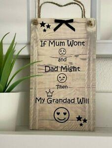 PERSONALISED GRANDAD GIFT Plaque Sign Keepsake Fathers Day Birthday Grandpa/Pops