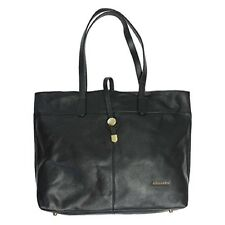 Purse Stella & Max Genuine Leather Tote Bag Black Hobo Shoulder Zipper Closure