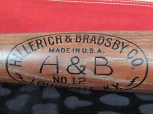 "Vintage Hillerich & Bradsby Wood Blue Streak Baseball Bat No12 Pepper Martin 36"""